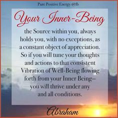 Your Inner Being ~ Abraham-Hicks