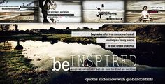 Be Inspired - Quotes SlideshowGreat After effects opener for quotes & typography 'Be Inspired - Quotes Slideshow' http://videohive.net/item/be-inspired-quotes-slideshow/6894114?ref=lasgole #aftereffects #typography #quotes