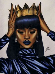 3 Of The Most Important Characteristics of Esther in the Bible Women Can Learn From - Sophie-sticatedmom - Lessons from Esther : Act Like A Queen To Get Your King. Black Love Art, Black Girl Art, My Black Is Beautiful, Black Girls Rock, Black Girl Magic, Art Girl, Drawings Of Black Girls, Frida Art, Natural Hair Art