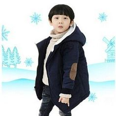 Boy Jackets Fashion Add Cotton Cashmere Warm Hooded Kids Thick Fur Coats Outwear Children's Boys Winter Clothes Tag a friend who would love this! Get it here #KidsFashionStore