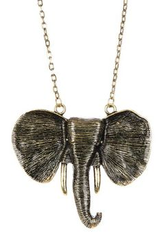 Pacyderm Pendant Necklace by Cam & Zooey on @HauteLook