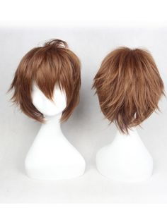 Cosplay Wigs Costumes Wigs Dark Brown Hair Wig For Boys
