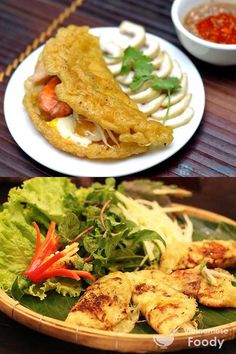 Hue Shrimp and Vegetable Pancakes (Banh Khoai) - Vietnamese Foody #pancake #vietnamesepancake