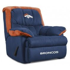 Imperial Denver Broncos Home Team Recliner Recliner $699.00! I want this.....game room....some day