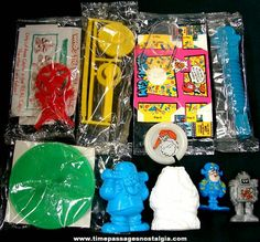 Packaged cereal toys!