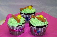 Softball Cupcakes By LanaC on CakeCentral.com