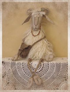 OK it is a Goat. Avdotia. but i love the expression on its face!