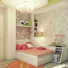 Like the wallpaper in this #Teen girl room