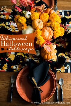 A Whimsical Halloween Tablescape   Celebrating everyday life with Jennifer Carroll