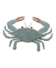 Wooden Blue Crab Wall Art