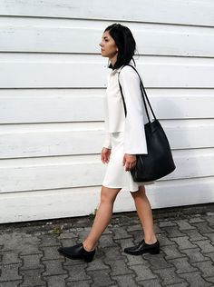 Get this look: http://lb.nu/look/8267139  More looks by Kate I.: http://lb.nu/mesmerize  Items in this look:  Bnkr Top, Markberg Bag, Bnkr Shorts, H&M Shoes   #classic #elegant #minimal