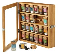 Artisanal Bamboo Salt Chest Featuring 24 sprinklings from around the world, this artisan set is the definitive gourmet salt collection. Kitchen Gifts, Kitchen Items, Kitchen Gadgets, Gourmet Salt, Gourmet Cooking, Home Design, First Apartment, Apartment Therapy, Home And Deco
