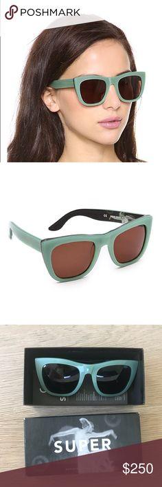 NWOT Mint Gals Caos Retro Sunglasses Amazing sunglasses! Gorgeous colour, box included Super Sunglasses Accessories Glasses