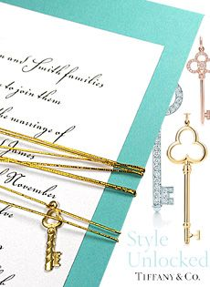Tiffany Blue Wedding Invitations with Key Charm and Cord exclusively at Formal-Invitations.com $1.22 each