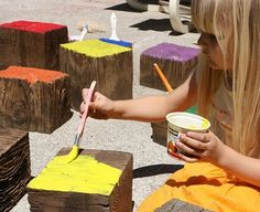 giant blocks for outdoor play