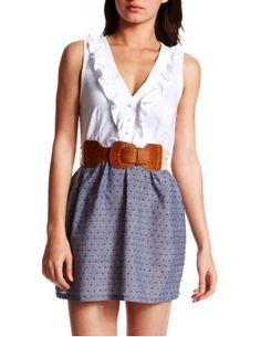 Swiss Dotted 2-fer Dress