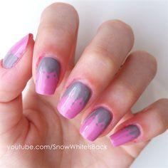 Half Colored Pattern Nails by SnowWhiteIsBack - Nail Art Gallery nailartgallery.nailsmag.com by Nails Magazine www.nailsmag.com #nailart