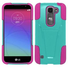 Insten Hard PC/ Soft Silicone Dual Layer Hybrid Phone Case Cover with Stand For LG Escape 2/ Logos/ Spirit 4G