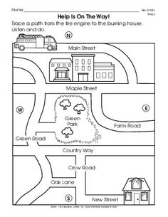 Teach basic map skills with this printable map activity. Students ...