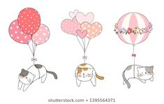 Find Draw Vector Cat Sleeping Sweet Balloon stock images in HD and millions of other royalty-free stock photos, illustrations and vectors in the Shutterstock collection. Valentines Watercolor, Thank You Card Design, Doodle Cartoon, Cat Sleeping, Drawing Challenge, Cat Drawing, Portfolio, Cartoon Styles, Stone Painting