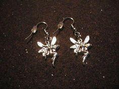Fairy charm Earrings *pretty gift* faerie fae mythical