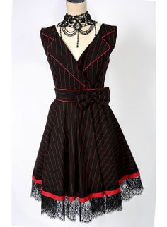 Lust Pinstripe Collar Dress