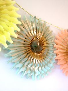 Fancy Frill Tissue Fan by EverlyLaneDesign on Etsy