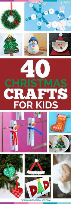 """""""Christmas Crafts for Kids Easy Christmas Crafts The best Christmas Crafts for Kids No-Sew Crafts Cheap Christmas Crafts Fun and Free Activities for kids Craft Ideas That Don't Cost Anything Free Kids Craft Ideas #Christmascrafts #kidscraft"""""""