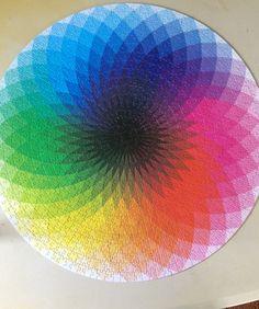 1000 pieces Round Rainbow  Geometric Figure Adults Children