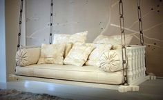Swinging sofa for the front porch..maybe instead of a swing? :)