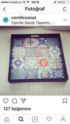 Wood Crafts, Diy And Crafts, Arts And Crafts, Decoupage, Ikea Hack, Mosaic Art, Storage Boxes, Love Art, Painting On Wood