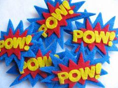 POW Superhero Felt Hairclip