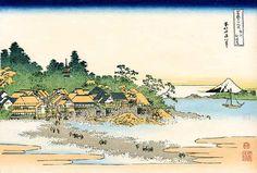 "No. 25  相州江の島 from 葛飾北斎~富嶽三十六景 - Hokusai's ""36 views of Mount Fuji"""