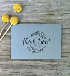 Simple Thank You Card Set Thank You Cards Set by ChampaignPaper