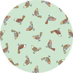 Makower UK, Doodle Days, Birds Turquoise