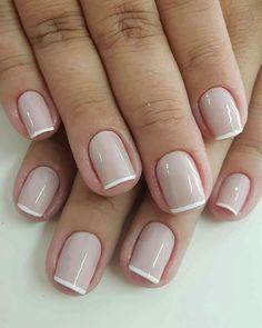 Elegant Nail Designs, French Nail Designs, Short Nail Designs, Elegant Nails, Nail Polish Designs, Classy Nails, French Nails, Nude Nails, Gel Nails