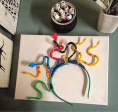 -DIY Medusa costume for my little one