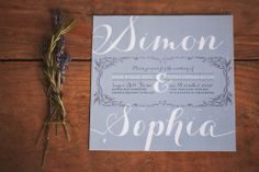 Lavender invitations - Winter Wedding Invitation | Blue Jar Events & Jenn Bakos Photography: Lavender & Rosemary Winter Wedding Inspiration #weddings #winterweddings #invitations