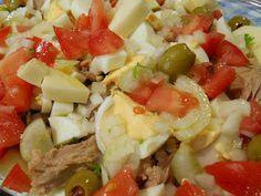 Salada de feijão frade e atum