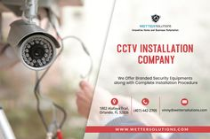 Use CCTV systems to get peace of mind and insight into the happenings in and around your home. Wetter Solutions offer you the best CCTV installation service in Orlando with different security cameras brands. Wireless Security Cameras, Security Surveillance, Security Alarm, Safety And Security, Security Solutions, Home Security Systems, Cctv Camera Installation, Home Camera, Ip Camera