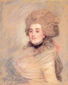 Portrait of an Actress in Eighteenth Century Dress, c.1883 by James Tissot (French 1836–1902)