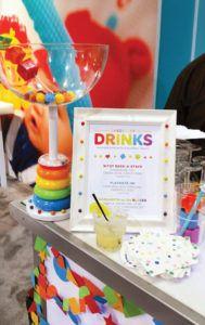 rainbow toy themed drinks