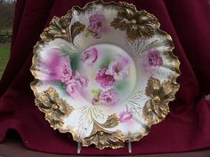 RS Prussia Carnation Mold Bowl Heavy Gold Super   eBay