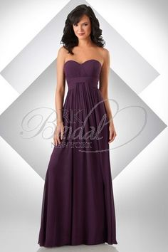 Bari Jay Bridesmaids - Style 332  Bella Chiffon sweetheart shirred bust; shirred waist band with center front of skirt draping out of waist band     nice and flowie