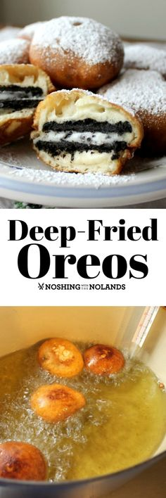 Deep-Fried Oreos by Noshing With The Nolands is a mouthwatering carnival food you can enjoy year round! #recipe #dessert #deepfried #carnivalfood #fairfood #oreo