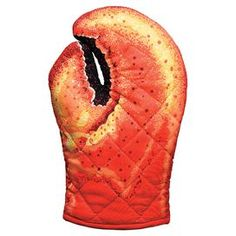 "Bring a touch of whimsy to your kitchen with this charming cotton oven mitt, showcasing a lobster claw design.   Product: Oven mittConstruction Material: CottonColor: RedDimensions: 9"" HCleaning and Care: Hand wash recommended"