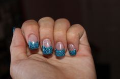 Blue glitter French tips This was the inspiration for my nails. Got them done today, they look just like this!