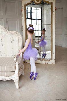 purple tutu and ballet shoes