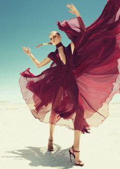 Maryna Linchuk by Paola Kudacki for Harper's Bazaar US (September 2011).