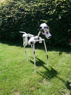 Dalmatian metal sculpture, full size